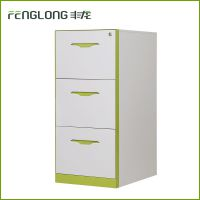 丰龙厂家热销三抽文件柜办公文件柜钢制文件卡箱档案资料存储柜