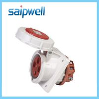 sp-205 4极电源防水插座 63A暗装斜插防水插座 电缆接线插座