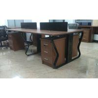 钢木办公桌 免漆板工位桌天津兴业办公家具厂定做批发