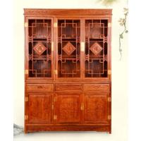 名琢世家刺猬紫檀古典中式三门书柜价格图片