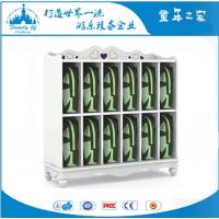 供应广州童年之家T-Y6014F幼儿园白色贵族12格书包柜