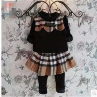 韩版童装批发 套装加绒打底衫+假两件打底裙裤 X7104 2.47A