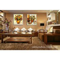 沙发背景电表箱纯手绘世界名画梵高向日葵油画花卉静物抽象定制