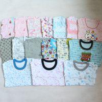 日本原单 儿童纯棉长袖打底衫 男女童针织内衣 薄秋衣 家居服上衣