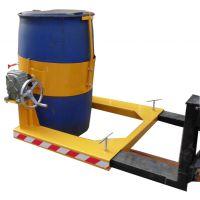 杭州抱桶器 叉车专用倒桶机具 手摇翻转倒桶夹具