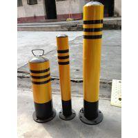 鹏翔瑞 镀锌铁防撞柱 路桩 1米高警示桩 路障反光柱 交通防撞设施