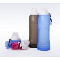 居家旅行用品户外折叠水杯翻盖创意水瓶运动水壶创意水杯