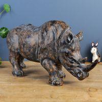 创意霸气犀牛树脂工艺品礼品摆件 乔迁开业生日礼物工艺品招代理