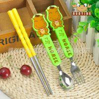 揭阳家盈厂直销 创意儿童餐具套装 汤勺 叉子 筷子 韩式宝宝餐具 出口欧美