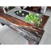 船木茶几 中式家具 个性茶桌 实木桌子 户外茶台 石磨茶几