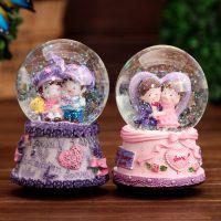 80#水晶球  八音盒创意生日礼品送男人女生礼物 工艺品