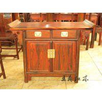 厂家直销 王义红木家具老挝红酸枝餐边柜2门2抽餐具柜边角柜