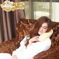 凡亚比 泰国天然乳胶U型枕头 护颈枕颈椎枕 汽车枕 午睡u枕 特价