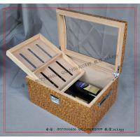 【工厂订做】出口雪茄红酒盒 雪茄香烟葡萄酒木盒包装厂家