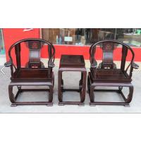 海南黄花梨印度小叶紫檀仿明清皇宫椅3件套藏品呈现 名琢红木