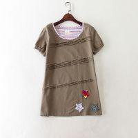 外贸原单女装 日系 五角星贴布上衣套头衬衫 C531  0.13
