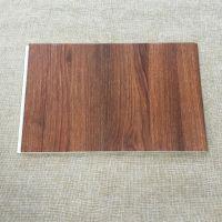 广东华仑观色厂家出口定做花纹立体设计600mm高分子发泡pvc竹木纤维集成木塑墙板