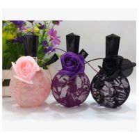 正品品牌奇美奕香漂亮黑红紫三色玫瑰女士持久香水100ml特价批发