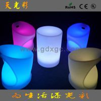 休闲中心LED咖啡圆桌子 LED酒吧发光桌子 PE材料生产 LED家具