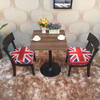 海德利咖啡厅/茶餐厅桌椅实木家具定做 美式乡村二人餐桌椅