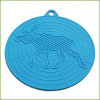 多功能圆形硅胶锅垫 耐高温硅胶隔热餐垫