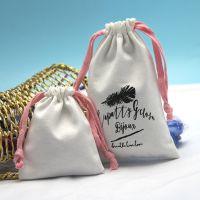 直销定做全棉帆布布袋 束口储物袋 帆布抽绳袋 多种尺寸收纳袋