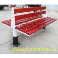 靠背椅户外防腐木休闲椅子铸铁脚防腐木长椅户外长凳