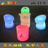 厂家直销 滚塑发光家具 LED榻榻米小茶几 矮桌子 50*50*70cm