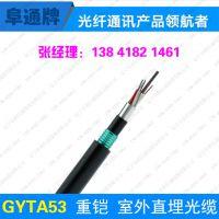 阜通牌 GYFTA-4B1单模 4芯非金属层绞式铠装光缆