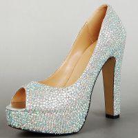 鞋厂来样贴牌加工定做杂志明星时尚款高跟女鞋 经典时装烫钻单鞋