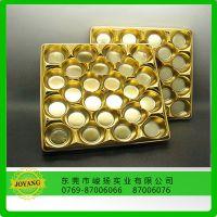 深圳厂家直供PET金色巧克力吸塑托盘PS食品级包装塑料盒来样定做批发价