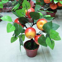 仿真植物假盆景橘子苹果桃果树盆栽摆放装饰开业供佛摆件厂家批发