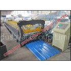 Strong Corrugated Sheet Roll Forming Machine With Mitsubishi PLC Control