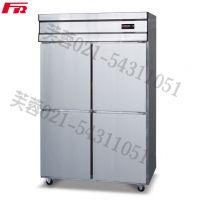 供应芙蓉不锈钢普及型四门风冷管冷立式冰箱 商用冰箱 F1-BGJ-10A 1200*750*1960