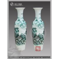 陶瓷现代简约客厅落地大花瓶 黑白配家居工艺品花瓶家饰摆件