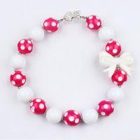 简约儿童短款串珠项链 外贸货源 速卖通敦煌爆款 chunky necklace