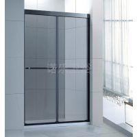 不锈钢屏风式一字形一固一活淋浴房吊趟门BR010