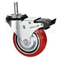轮子信希脚轮轻中型韩式铁心聚氨酯脚轮万向轮4寸定向诚招代理