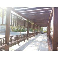 防腐木加工厂加工安装 防腐木地板防腐木围栏及防腐木廊架