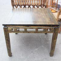 厂价定做 复古风格雕花实木桌子 中餐厅8仙桌 海德利榆木实木餐台