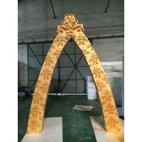 泡沫婚礼拱门 泡沫婚庆装修物 泡沫球各种泡沫异形雕塑可上色