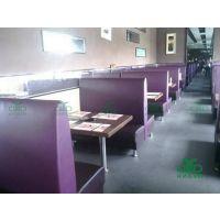 供应卡座沙发 1.2米卡座沙发 佛山顺德定制现代餐厅皮质卡座沙发