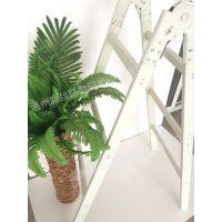 创意现代木梯子道具 精品服饰商场木质品橱窗布置道具定制 可折叠