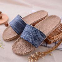 亚麻拖鞋 夏季拖鞋男 居家拖鞋 室内防滑地板拖 现货批发