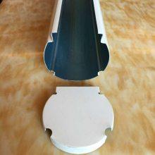 供应海南仿青花瓷卡槽式型材铝方通木纹U型槽50雕刻铝圆管装饰型材