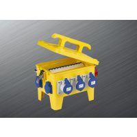 富森供应箱体为260*190*180PC阻燃塑料防水工业组合插座箱 IP65220V63A