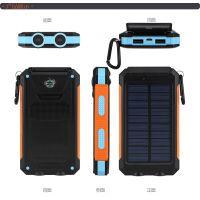米纳思款嵌入式指南针太阳能移动电源充电宝10000毫安大容量 外贸出口款