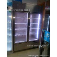 厨房玻璃门冷柜 不锈钢玻璃展示柜 保鲜冰箱 商用冷藏柜厂家批发