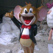 四川版猫和老鼠现货玻璃钢TOM猫模型树脂纤维叮当猫地产卡通雕塑豪晋厂家定做