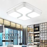 客厅灯吸顶灯现代简约餐厅卧室时尚灯具大气浪漫温馨创意方形灯饰